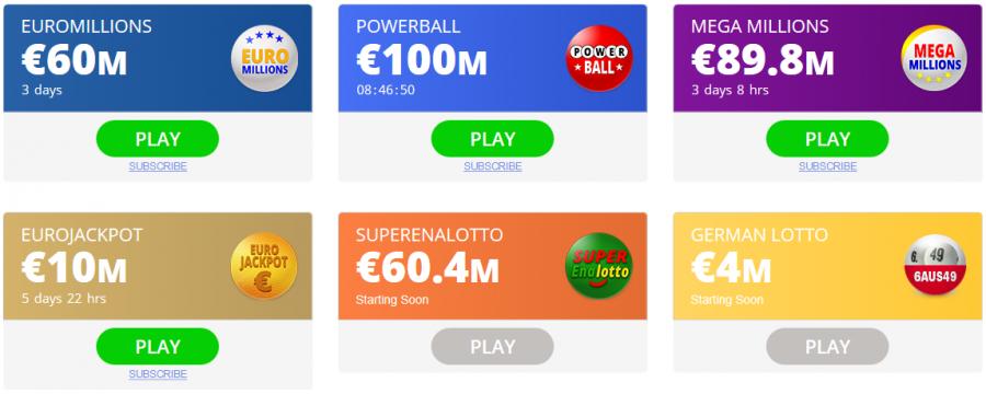 Jackpot.com Spielangebot