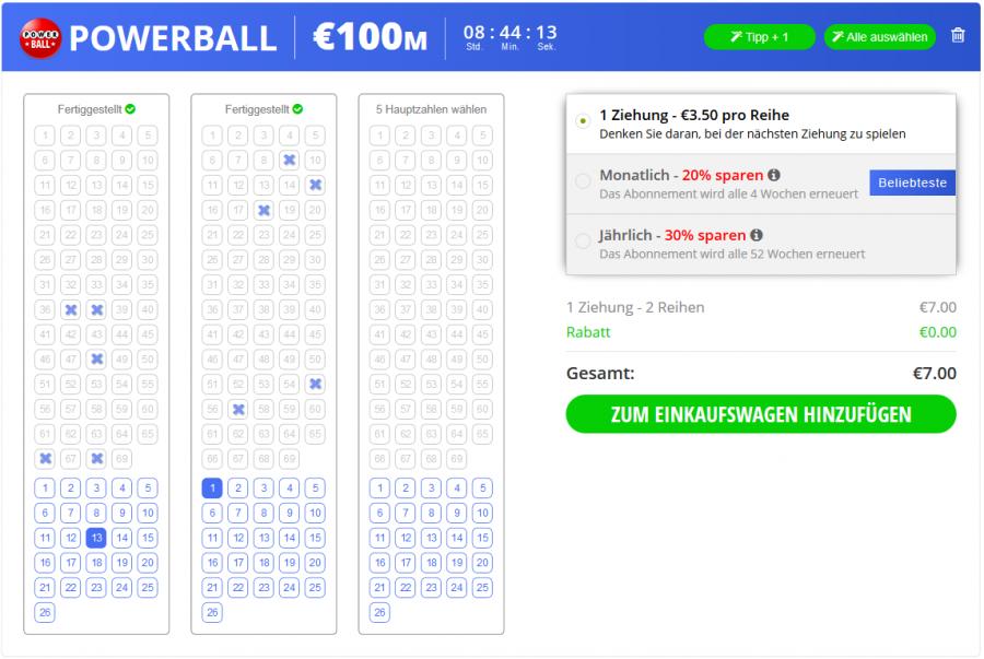 Jackpot.com Spielschein