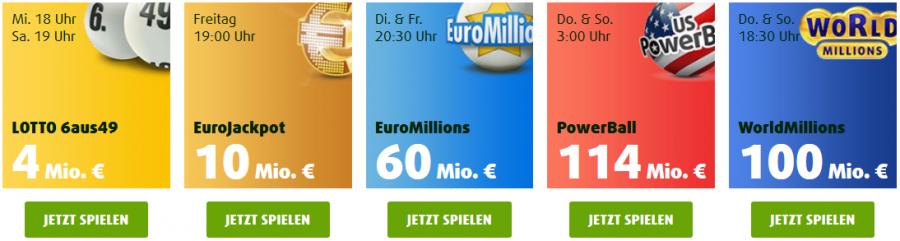 Lottoland Spielangebot