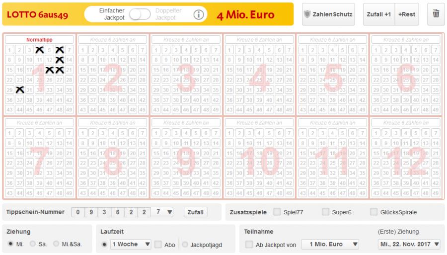 Lottoland Spielschein