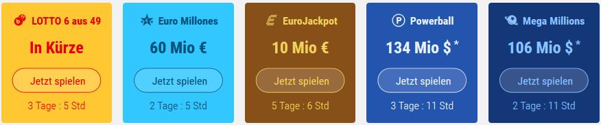 Tipp24 Spielangebot